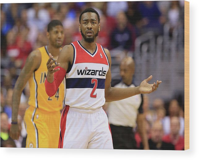 Playoffs Wood Print featuring the photograph John Wall by Rob Carr