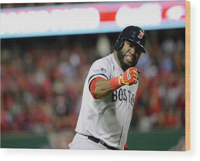 Playoffs Wood Print featuring the photograph Jonny Gomes and David Ortiz by Ron Vesely