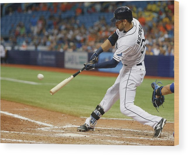 Ninth Inning Wood Print featuring the photograph Kevin Kiermaier by Brian Blanco