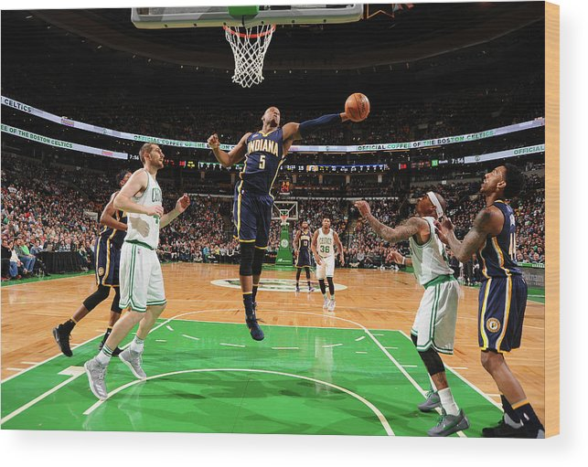 Nba Pro Basketball Wood Print featuring the photograph Lavoy Allen by Brian Babineau