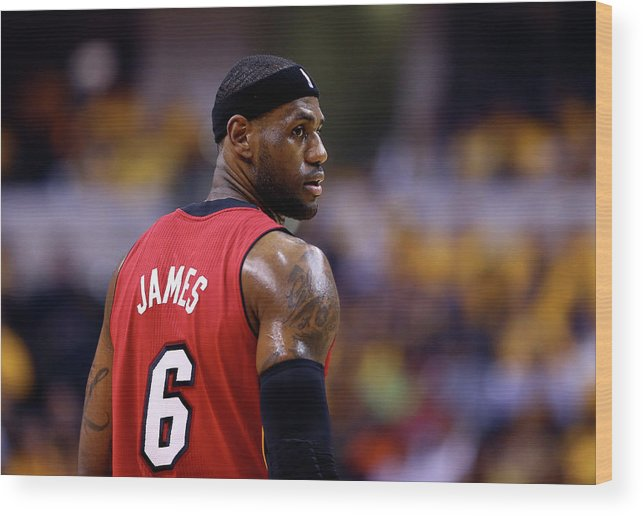 Playoffs Wood Print featuring the photograph Lebron James by Andy Lyons
