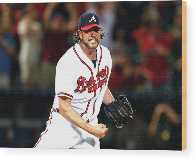 Atlanta Wood Print featuring the photograph Lucas Duda and Jason Grilli by Kevin C. Cox