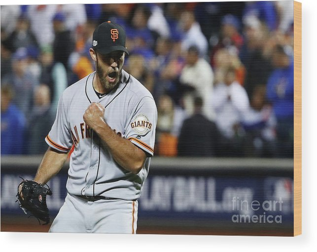 Playoffs Wood Print featuring the photograph Madison Bumgarner by Al Bello