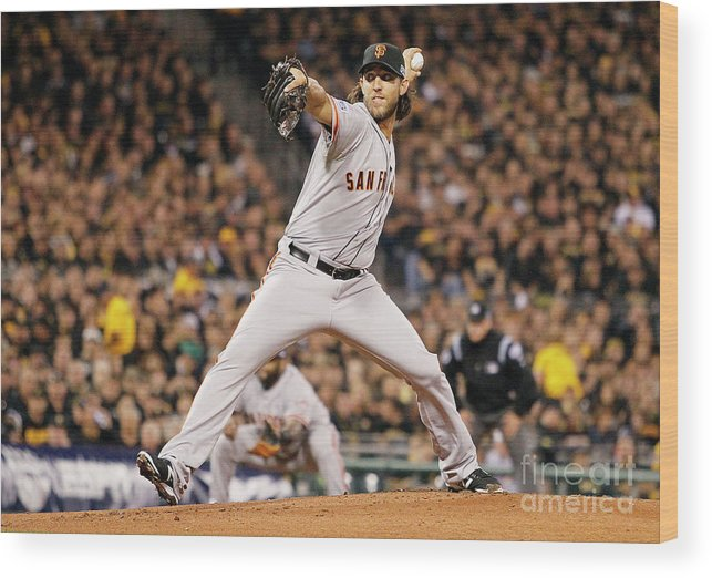 Pnc Park Wood Print featuring the photograph Madison Bumgarner by Justin K. Aller