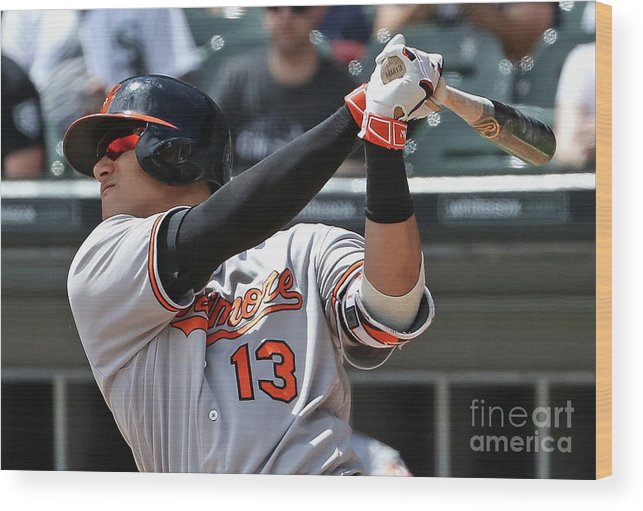 People Wood Print featuring the photograph Manny Machado by Jonathan Daniel