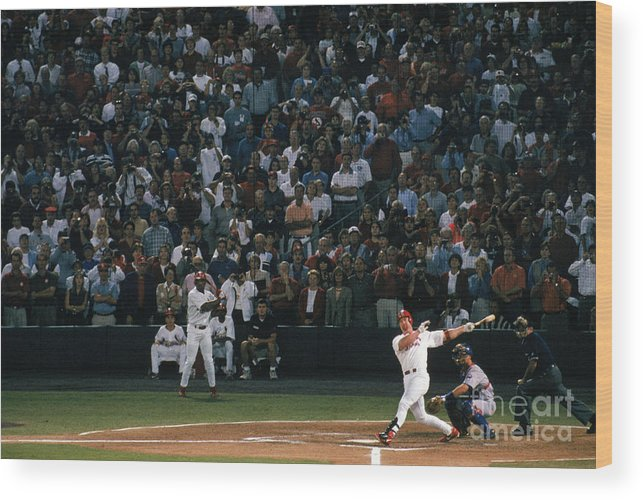 Season Wood Print featuring the photograph Mark Mcgwire and Roger Maris by Bill Stover