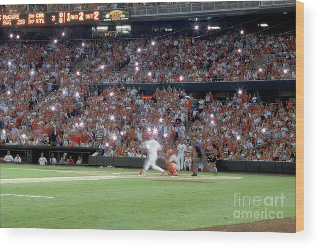 St. Louis Cardinals Wood Print featuring the photograph Mark Mcgwire by Rich Pilling