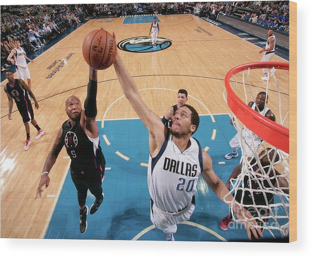 Nba Pro Basketball Wood Print featuring the photograph Marreese Speights and A.j. Hammons by Glenn James
