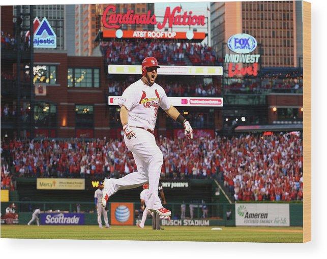 St. Louis Cardinals Wood Print featuring the photograph Matt Adams by Dilip Vishwanat