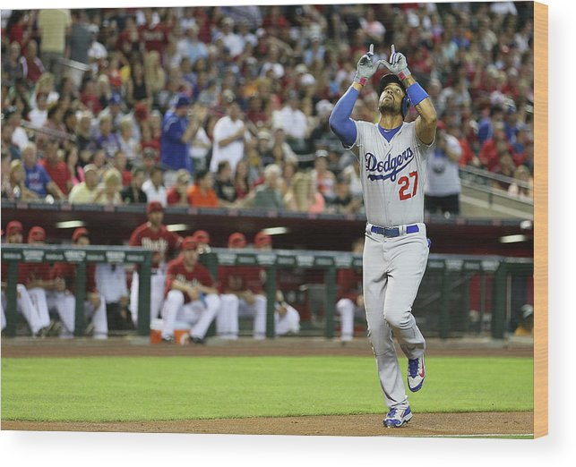 Second Inning Wood Print featuring the photograph Matt Kemp by Christian Petersen