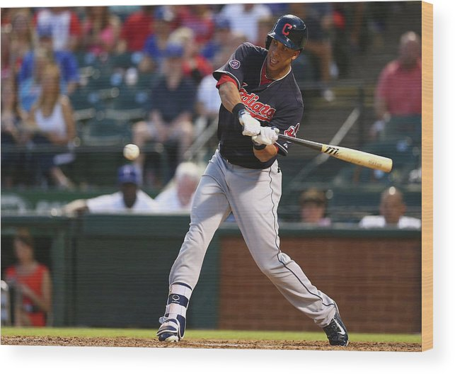 People Wood Print featuring the photograph Michael Brantley by Ronald Martinez