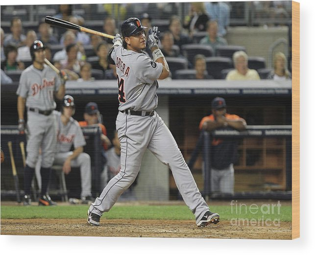 People Wood Print featuring the photograph Miguel Cabrera by Nick Laham