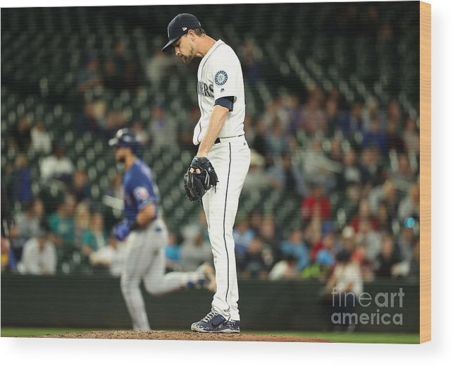 People Wood Print featuring the photograph Mike Leake and Joey Gallo by Abbie Parr