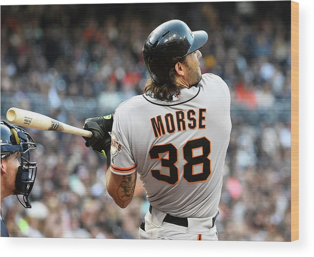 Mike Morse Wood Print featuring the photograph Mike Morse by Denis Poroy