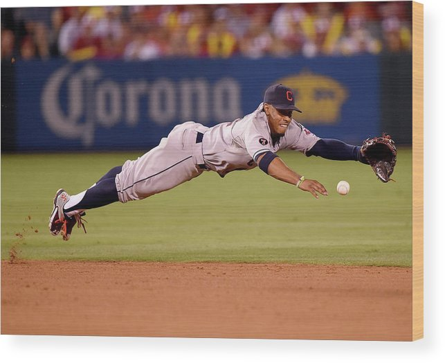 People Wood Print featuring the photograph Mike Trout and Francisco Lindor by Harry How