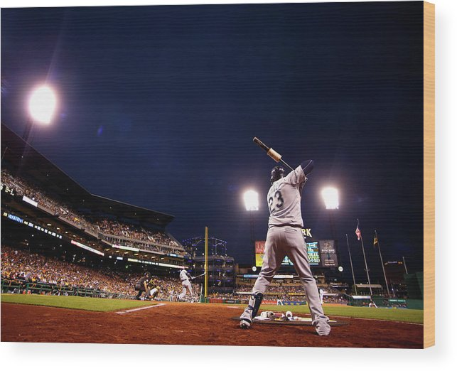 Expertise Wood Print featuring the photograph Nelson Cruz by Justin K. Aller
