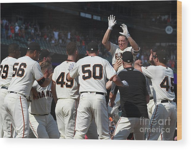 San Francisco Wood Print featuring the photograph Nick Hundley by Thearon W. Henderson