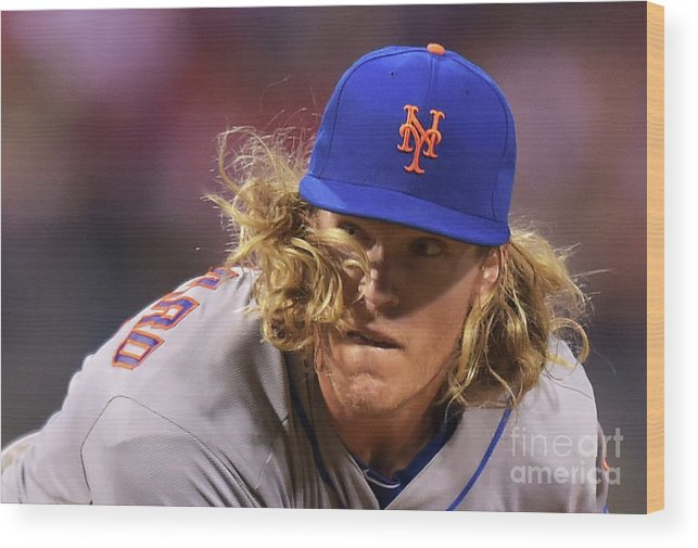 People Wood Print featuring the photograph Noah Syndergaard by Drew Hallowell