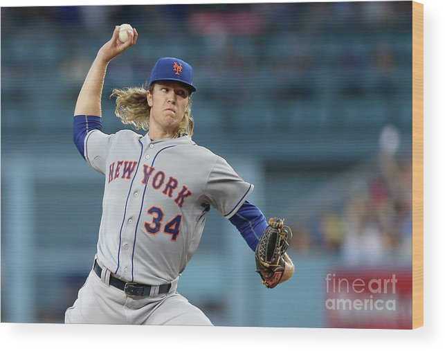 Game Two Wood Print featuring the photograph Noah Syndergaard by Stephen Dunn