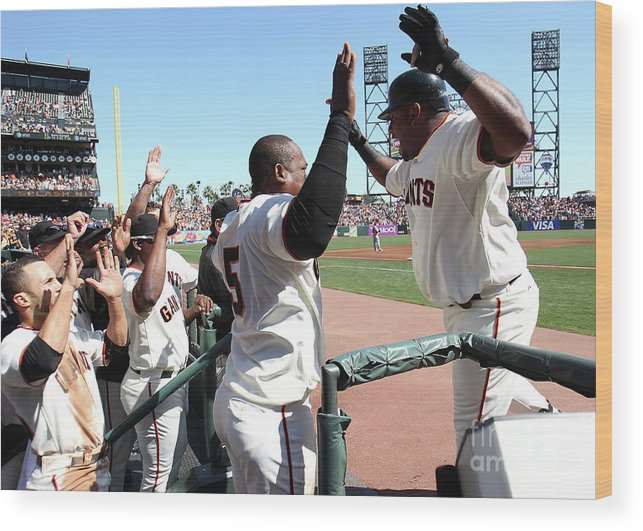People Wood Print featuring the photograph Pablo Sandoval by Jed Jacobsohn