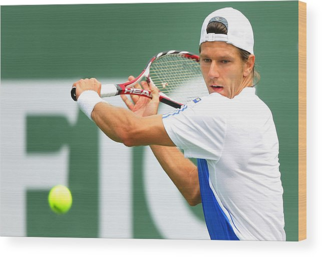 Tennis Wood Print featuring the photograph Pacific Life Open Day 7 by Matthew Stockman