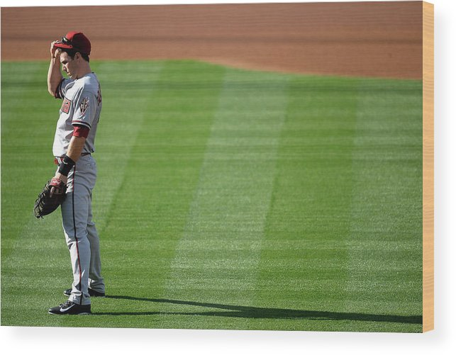 American League Baseball Wood Print featuring the photograph Paul Goldschmidt by Harry How