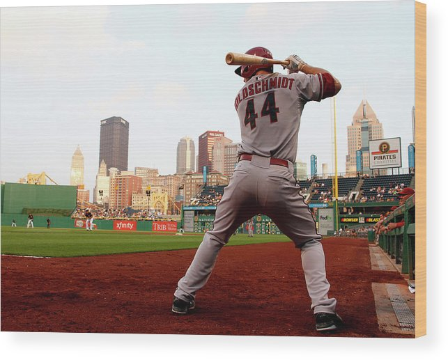 Professional Sport Wood Print featuring the photograph Paul Goldschmidt by Justin K. Aller