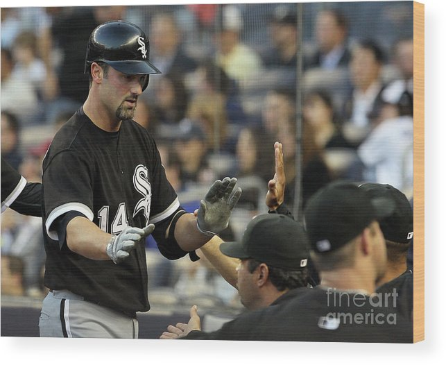 American League Baseball Wood Print featuring the photograph Paul Konerko by Jim Mcisaac