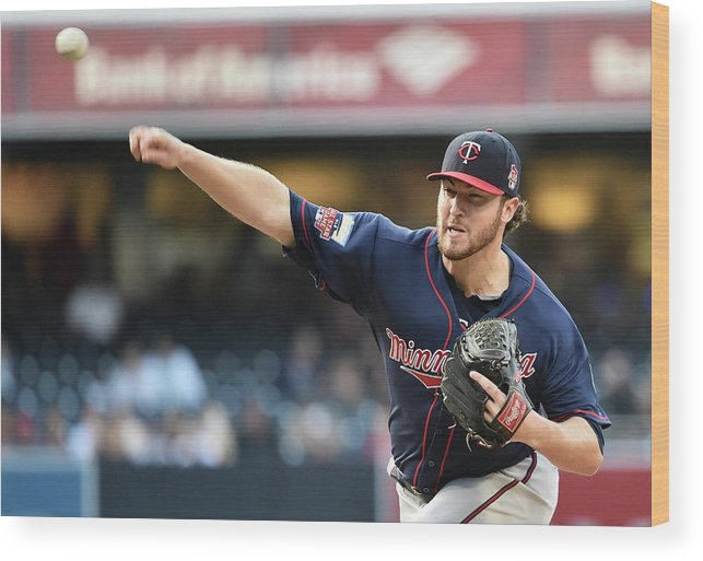 American League Baseball Wood Print featuring the photograph Phil Hughes by Denis Poroy