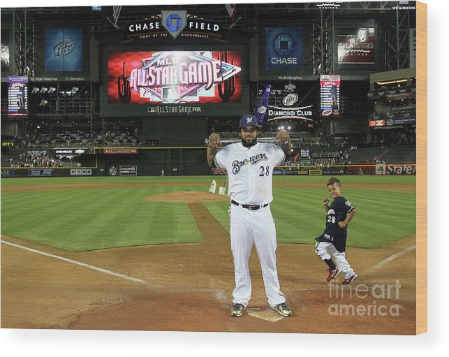 American League Baseball Wood Print featuring the photograph Prince Fielder by Jeff Gross