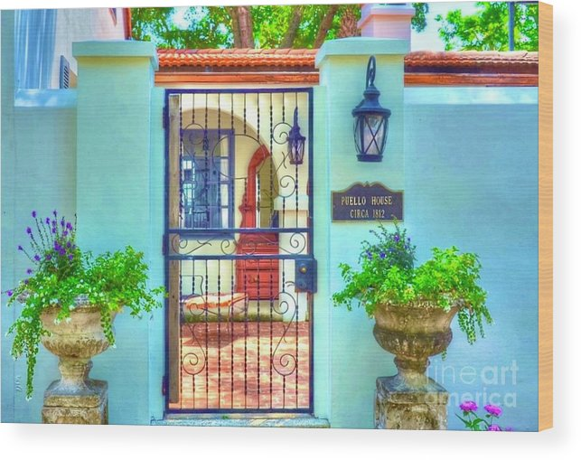 Gate Wood Print featuring the photograph Puello House by Debbi Granruth