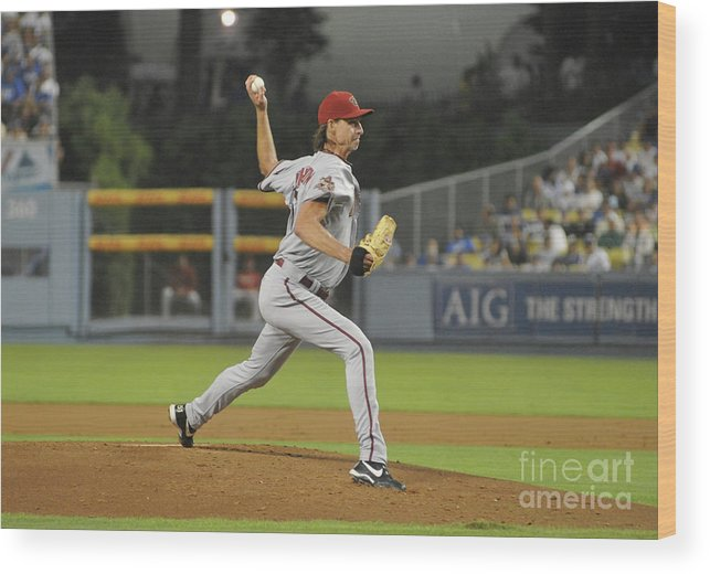 People Wood Print featuring the photograph Randy Johnson by Icon Sports Wire