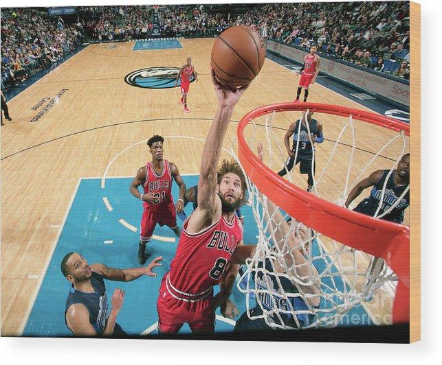 Nba Pro Basketball Wood Print featuring the photograph Robin Lopez by Glenn James