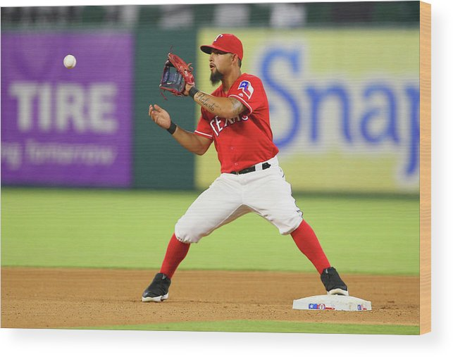 Double Play Wood Print featuring the photograph Rougned Odor by R. Yeatts