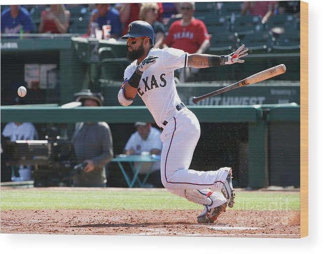 People Wood Print featuring the photograph Rougned Odor by Ron Jenkins