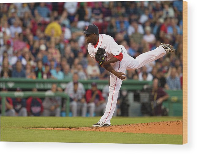 Second Inning Wood Print featuring the photograph Rubby De La Rosa by Rich Gagnon