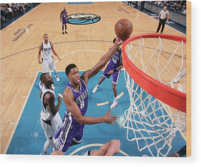 Nba Pro Basketball Wood Print featuring the photograph Rudy Gay by Glenn James