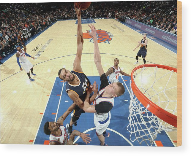 Nba Pro Basketball Wood Print featuring the photograph Rudy Gobert by Nathaniel S. Butler