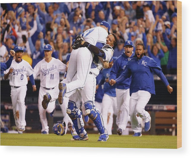 Salvador Perez Diaz Wood Print featuring the photograph Salvador Perez by Rob Carr