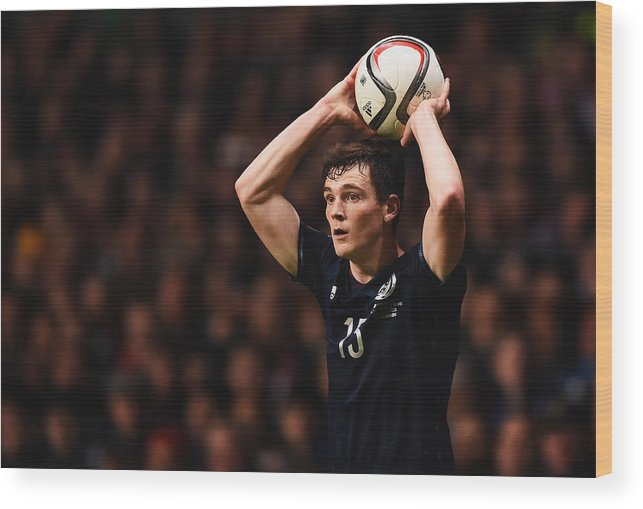 People Wood Print featuring the photograph Scotland v Republic of Ireland - EURO 2016 Qualifier by Laurence Griffiths