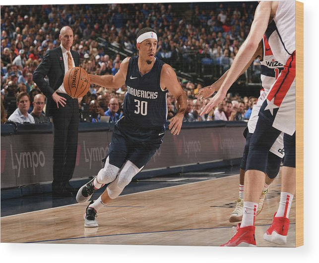 Nba Pro Basketball Wood Print featuring the photograph Seth Curry by Glenn James