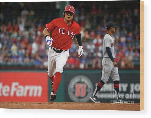 Second Inning Wood Print featuring the photograph Shin-soo Choo by Ron Jenkins