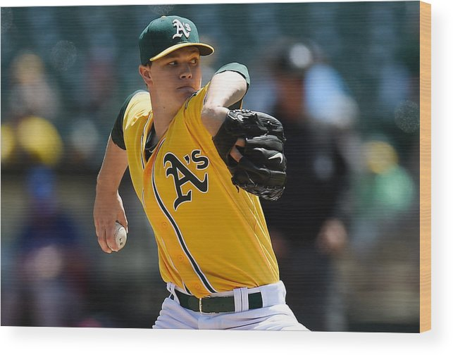 American League Baseball Wood Print featuring the photograph Sonny Gray by Thearon W. Henderson