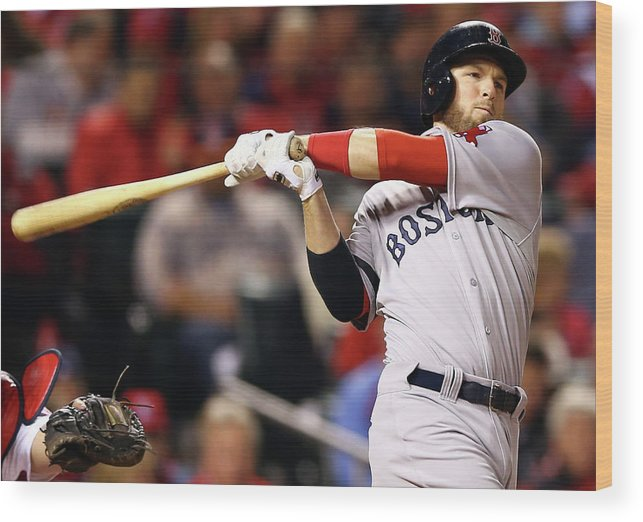 American League Baseball Wood Print featuring the photograph Stephen Drew by Elsa