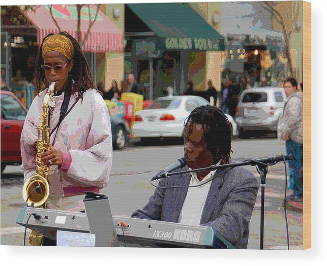 Jazz Wood Print featuring the photograph The Color Of Music by Suzanne Gaff
