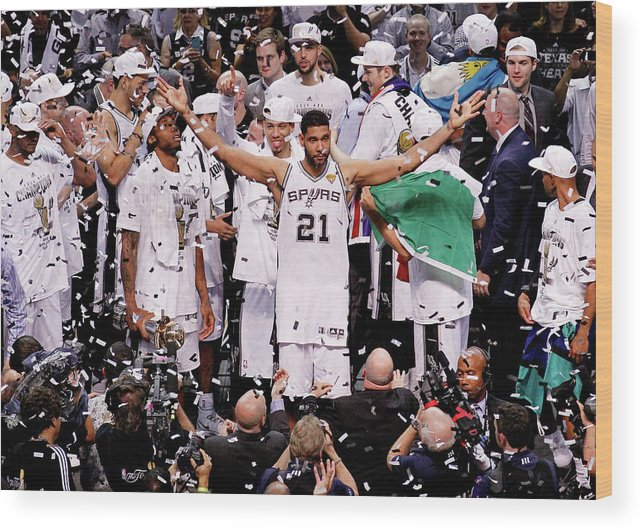 Playoffs Wood Print featuring the photograph Tim Duncan by Chris Covatta