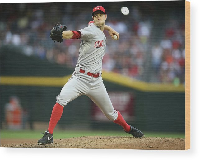 Baseball Pitcher Wood Print featuring the photograph Tony Cingrani by Christian Petersen