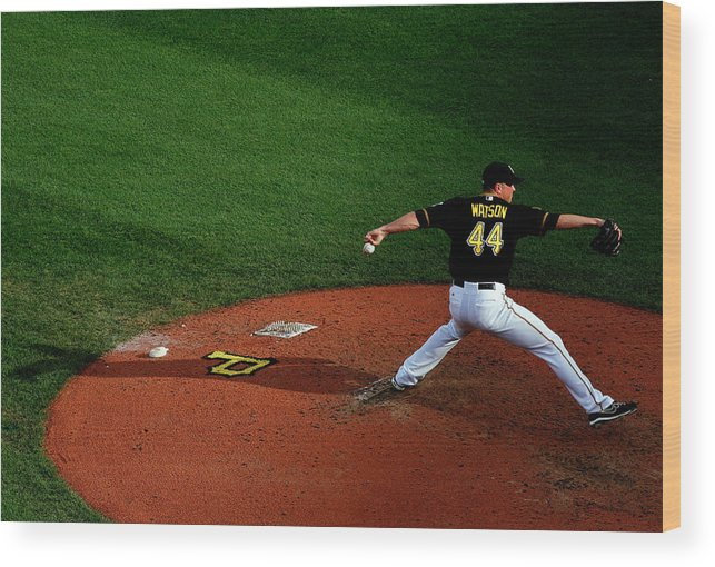 Professional Sport Wood Print featuring the photograph Tony Watson by Justin K. Aller
