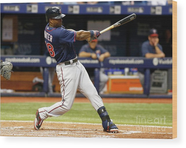 People Wood Print featuring the photograph Torii Hunter by Brian Blanco