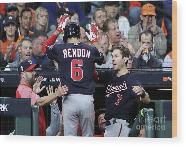People Wood Print featuring the photograph Trea Turner and Anthony Rendon by Elsa